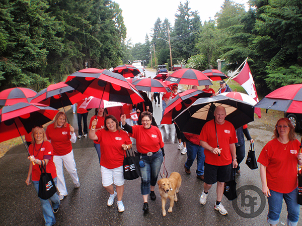 Riesling loved being part of Royal LePage in the Canada Day Parade in Parksville!